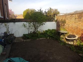 Regent Villa garden, Leamington Spa - Before